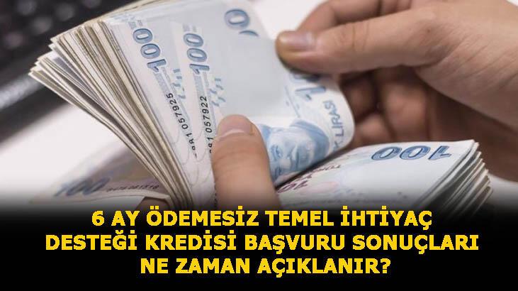 6 ay ödemesiz temel ihtiyaç desteği kredisi başvuru ekranı, ne zaman sonuçlanır? Halkbank, Vakıfbank ve Ziraat Bankası 10 bin TL kredi sorgulaması nasıl yapılır?