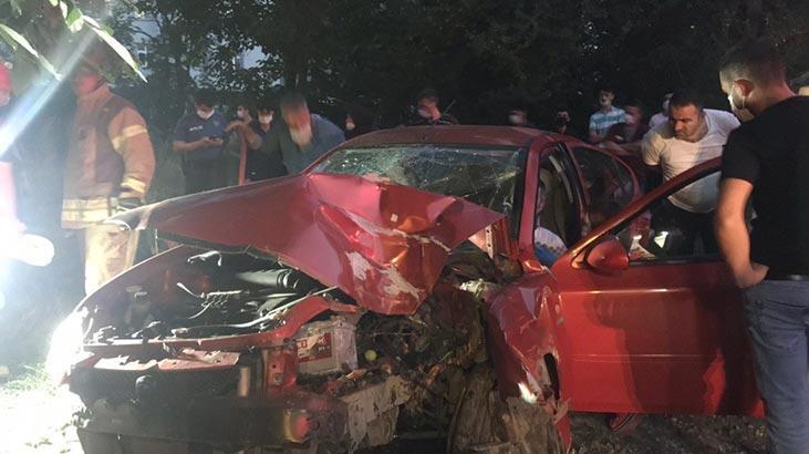 Arnavutköy'de trafik kazası: Aynı aileden 6 yaralı