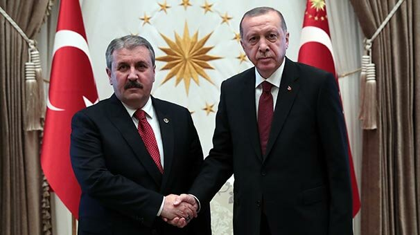 Cumhurbaşkanı Erdoğan, BBP Genel Başkanı Destici'yi kabul etti