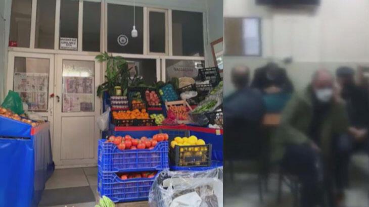 Dışı manav içi kahvehane! 36 kişiye ceza kesildi