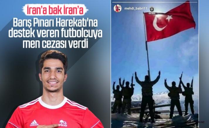 Harekata destek veren Türk takımı Traktör'ün futbolcusuna İran'dan men cezası