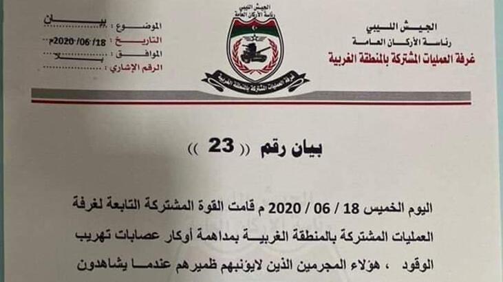 Libya'da 'petrol çetelerine' operasyon uyarısı