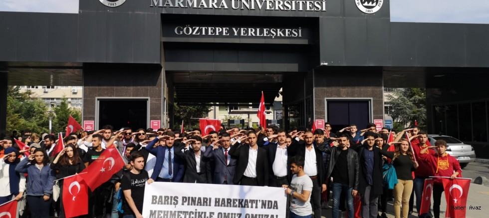 Marmara Üniversitesi Ülkücülerinden Barış Pınarı Harekatında Görev Alan Mehmetçiğe Selam