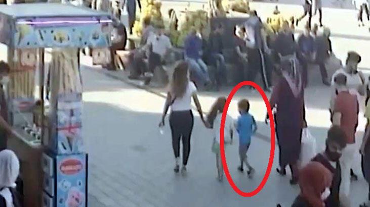 Motosikletin çarptığı çocuk ağır yaralandı; kaza anı kamerada