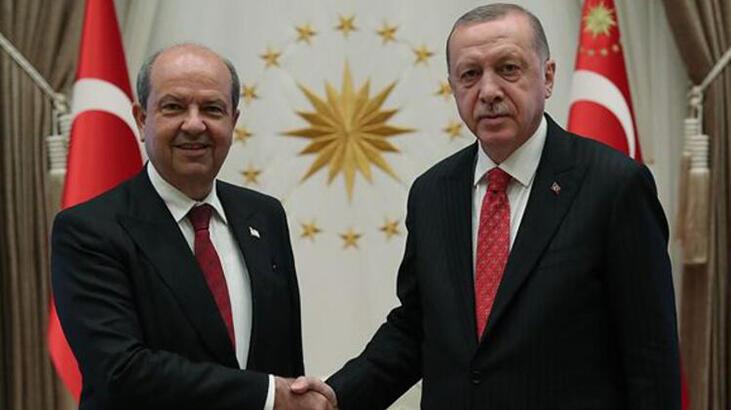 Son dakika haberi... Cumhurbaşkanı Erdoğan, KKTC Başbakanı Tatar ile görüştü
