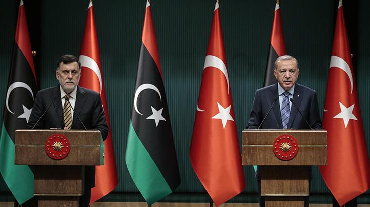 Son dakika I Beştepe'de Libya zirvesi! Cumhurbaşkanı Erdoğan ve Sarrac'tan ortak açıklama